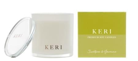 Sweet Pea & Jasmine Keri Luxury Soy Candle Indulgence 410g