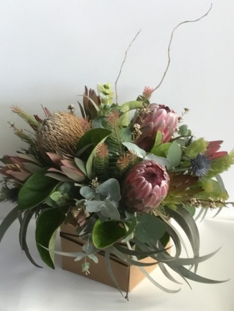 Australian Native flower arrangement in a box