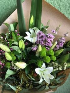 Lilies and assorted seasonal flowers