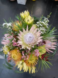 Native Blooms Arrangement in Wooden Box